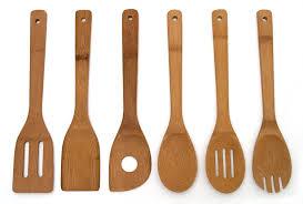 American Made Kitchen Utensils Amazoncom Lipper International 826 Set Of 6 Bamboo Kitchen Tools