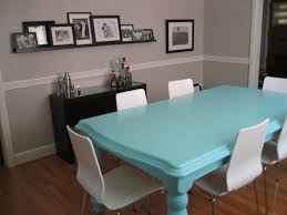 blue dining room furniture. Nice Blue Reectangular Dining Table With White Chairs As Well Artwork Photos Frame On Wall Shelves Decorate In Small Space Room Furniture E