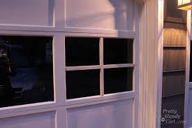 garage door plastic window insertsAdding Grilles to Garage Door Windows  Pretty Handy Girl