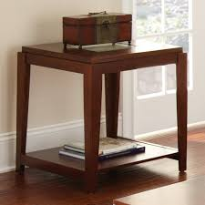 Steve Silver Company Ice Brown Glass Top End Table Ie200e The Home