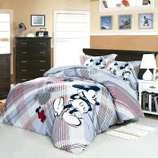 we love mickey mouse gray bedding set room twin size minnie bed sheets