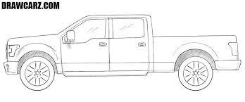How to Draw a Ford Truck | DrawCarz