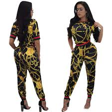 Traditional Jumpsuit Designs 2017 New Vintage African Traditional Style Two Pieces Women