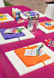 polka dot rainbow paint themed birthday party