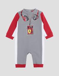 scuderia ferrari infant cotton interlock driver suit jumpsuits