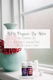 diy organic lip balm chap stick with essential oils beeswax vaseline free