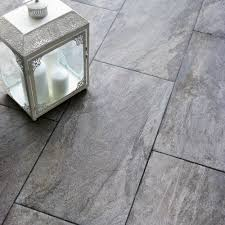 Gray Kitchen Floors Indus Dark Grey Stone Effect Porcelain Wall Floor Tile Pack Of