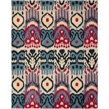 safavieh ikat beige blue 8 ft x 10 ft area rug