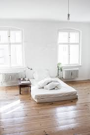 Simple White Bedroom Clean Open Space Love The Wood Floor Bright Windows Comfy