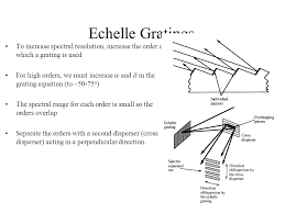 ece gratings to increase spectral resolution increase the order at which a grating is used