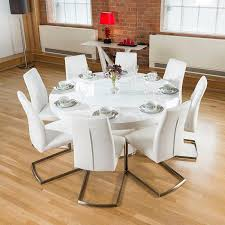 8 seat dining table. Stunning Idea 6 8 Seater Round Dining Table Large White Gloss Lazy Susan Chairs Seat