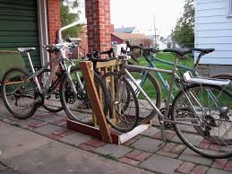Diy bicycle rack Homemade Metal Ninja Bike Advocacy Wv Cycling Wordpresscom Diy Bike Rack Wv Cycling