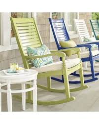 white outdoor rocking chair. Nantucket Outdoor Rocking Chair - Solid White Grandin Road L