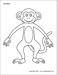 Monkey Free Printable Templates Coloring Pages Firstpalettecom