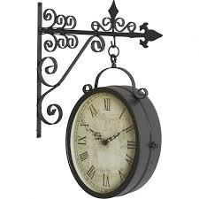 weatherproof outdoor clocks clock august grove reg metal double decorlarge waterproof
