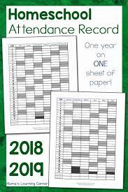 2018 2019 Employee Attendance Calendar Pdf 2020 Calendar