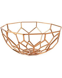 deal alert hallmark home decor copper metal geometric bowl