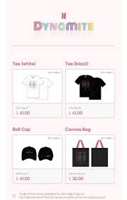 DYNAMITE Official Merch Collection — US BTS ARMY