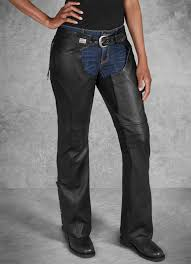 h d motorclothes harley davidson women s leather chaps deluxe ii 98046