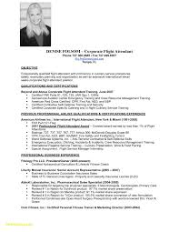 Sample Resume For No Experience Flight Attendant Save Examples New