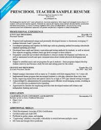 Preschool Teacher Resume Elegant Sample Resume For Preschool Teacher