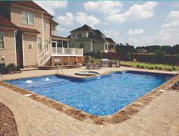 Backyard With Pool Design Ideas New Legacy Pool Gallery 48ft Radius Rectangle