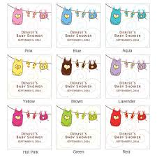 It Is A Girl Baby Shower 40 Thank You 2 Inch Circle StickersBaby Shower Tags And Labels