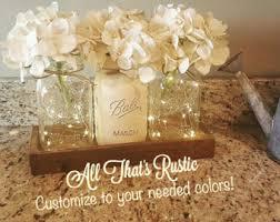 Mason Jar Decorations For A Wedding Rustic centerpieces Etsy 52