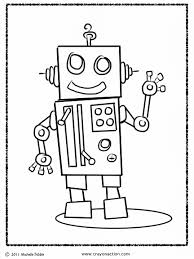 Cartoon Robot Coloring Pages Get Coloring Pages