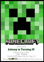 Minecraft Party Invitations Minecraft Party Invitations As