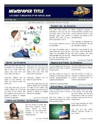 Newspaper Article Template Free Online Editable Newspaper Template Portrait Inside Page Free For Students