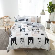 rabbit duvet cover set twin queen king size bedding sets 100 cotton duvet cover bed