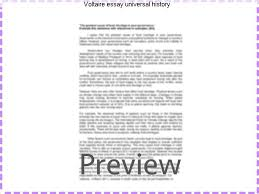 voltaire essay universal history term paper help voltaire essay universal history an essay on universal history the manners and spirit of