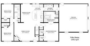 simple floor plans. Modren Simple Simple Ranch House Plans With Garage Open Floor  Style Villa Maria Inside