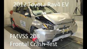 2016 2016 toyota rav4 ev fmvss 208 frontal crash test 25 mph