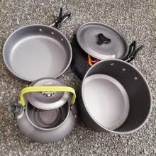 Походный <b>набор</b> посуды, <b>кастрюля</b> + сковорода + чайник 0.8 л ...