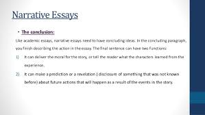 narrative essays narrative essays • the conclusion