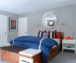 blue and orange boys bedroom with gray rug contemporary childrens bedroom rugs next