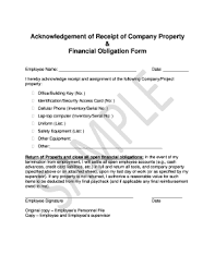 company property acknowledgement form property acknowledgement receipt form fill online printable