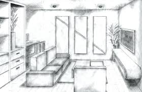 One Point Perspective Living Room Two Point Perspective Living Room Drawing  Com Part Part Two Point Perspective Interior Living Room
