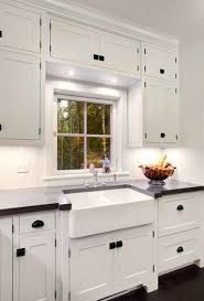 white cabinet handles. Inspiring Dual Farmhouse Sink Traditional Kitchen Mitch Wise Design On Black Cabinet Hardware White Handles E