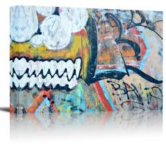 graffiti colorful wall art print decor image canvas