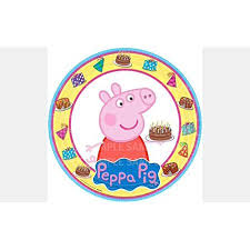 Peppa Pig Birthday Edible Image Photo 8 Round Cake Topper Sheet Personalized Custom Customized Birthday Party