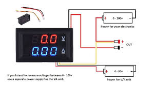 digital volt gauge wiring diagram wiring diagram libraries dc 100v 10a voltmeter ammeter blue red led amp dual digital volt digital volt gauge wiring diagram