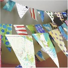 Recycled Party Bunting Chrysanthemum ...