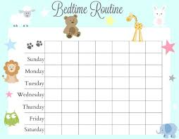 Free Printable Bedtime Chart 79 Explicit Free Printable Bedtime Routine Chart For Kids