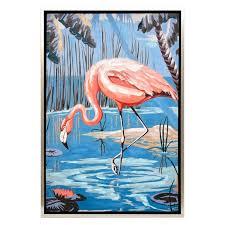 flirty flamingo framed enhanced