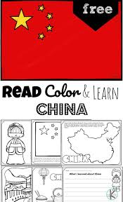 China's flag simple printable a blackline master (printout) of the china: Read Color And Learn About China