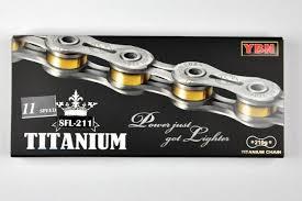 New <b>YBN</b> SLA-211 Titanium <b>11 Speed</b> Bike Chain 222g for ...