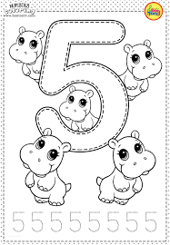 Funny numbers coloring page : Worksheets For Preschool Printables Coloring Pages Samsfriedchickenanddonuts